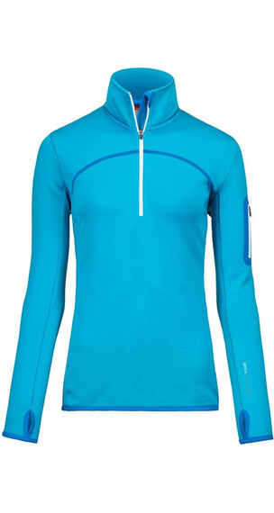 Ortovox W's Merino Fleece Zip Neck (MI) Blue Lagoon